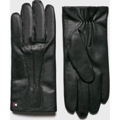 Tommy Hilfiger - Rękawiczki. Czarne rękawiczki męskie marki TOMMY HILFIGER, z materiału. Za 299,90 zł.