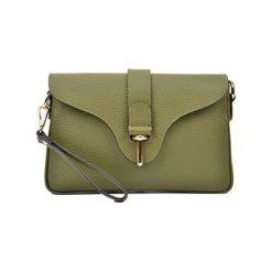 Torebki klasyczne damskie: Skórzana torebka w kolorze zielonym – (S)29 x (W)18 x (G)5 cm