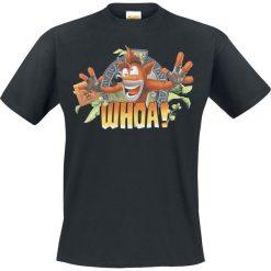 Crash Bandicoot Whoa! T-Shirt czarny. Czarne t-shirty męskie z nadrukiem marki Strategia. Za 54,90 zł.
