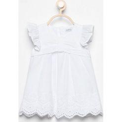 Sukienki dziewczęce: Sukienka z ażurowym dołem - Biały