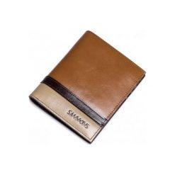 Portfele męskie: Sammons Krótki męski portfel Brązowy  (350179-57)