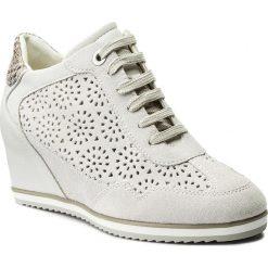 Sneakersy GEOX - D Illusion B D8254B 00022 C1002 Off White. Brązowe sneakersy damskie Geox, ze skóry ekologicznej. W wyprzedaży za 349,00 zł.