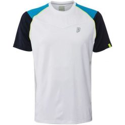 Koszulki sportowe męskie: PRINCE Koszulka męska Shoulder Panel Crew biała  r. L