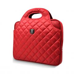 """Port Designs Firenze 15.6-16"""" czerwona. Czerwone torby na laptopa marki Port Designs, w paski, z materiału, pikowane. W wyprzedaży za 149,00 zł."""