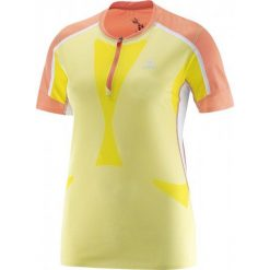 Salomon Koszulka Sportowa Sky Tee W Flashy-X/Coral Punch/White M. Szare bluzki sportowe damskie marki Salomon, z gore-texu, na sznurówki, outdoorowe, gore-tex. Za 315,00 zł.