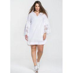 Długie sukienki: Sukienka tunika z rękawem 3/4 z koronki