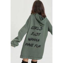 Ciemnozielona Bluza Have Fun. Zielone bluzy z kapturem damskie other, l. Za 119,99 zł.