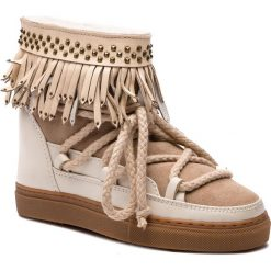 Buty zimowe damskie: Buty INUIKII - Sneaker Fringes 70202-29 Cream