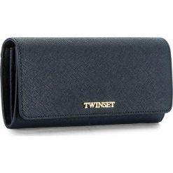 Duży Portfel Damski TWINSET - Portafoglio OA7PD3 Blue Bla 00894. Niebieskie portfele damskie Twinset, ze skóry. W wyprzedaży za 359,00 zł.