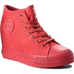 Sneakersy damskie: Sneakersy BIG STAR - BB274088 Micro/Red
