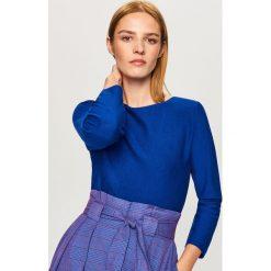 Sweter - Niebieski. Niebieskie swetry klasyczne damskie marki Vila, xs, z bawełny. Za 49,99 zł.