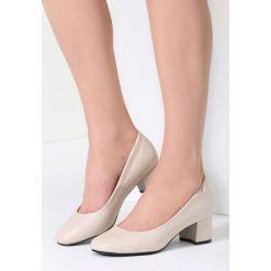 Buty ślubne damskie: Beżowe Czółenka Lady Approved