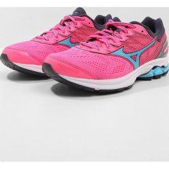 Buty sportowe damskie: Mizuno WAVE RIDER 21 Obuwie do biegania treningowe pink glo/aquarius/graystone