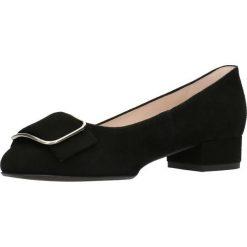 Czółenka MIHO. Czarne buty ślubne damskie Gino Rossi, ze skóry, na płaskiej podeszwie. Za 249,90 zł.