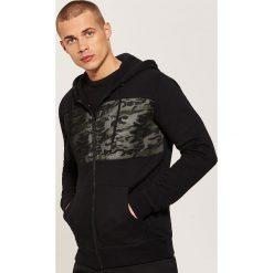 Bluza z kontrastowymi wstawkami - Czarny. Czarne bluzy męskie rozpinane marki House, l. Za 119,99 zł.