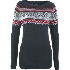 Sweter wzorzysty bonprix czarny wzorzysty. Czarne swetry klasyczne damskie bonprix. Za 74,99 zł.