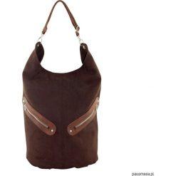 KOFI - duża torba worek - gorzka czekolada. Brązowe torebki klasyczne damskie marki Pakamera, duże. Za 156,00 zł.