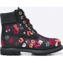 Timberland - Botki 6IN Premium Boot. Czarne buty zimowe damskie Timberland, z materiału, na obcasie, na sznurówki. W wyprzedaży za 599,90 zł.