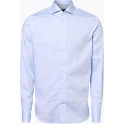 Profuomo - Koszula męska niewymagająca prasowania, niebieski. Niebieskie koszule męskie na spinki Profuomo, m, z bawełny, z klasycznym kołnierzykiem. Za 349,95 zł.