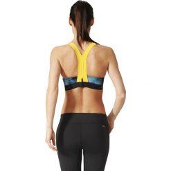 Biustonosze sportowe: Adidas Biustonosz Cmmttd Chill szaro-żółty r. 75C (BR6980)