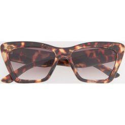 Okulary przeciwsłoneczne - Brązowy. Szare okulary przeciwsłoneczne damskie lenonki marki ORAO. Za 49,99 zł.
