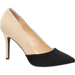 Szpilki: szpilki damskie Graceland beżowo-czarne