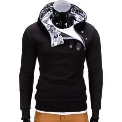 Bluzy męskie: BLUZA MĘSKA Z KAPTUREM PACO – CZARNA/MORO