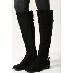 Buty zimowe damskie: Czarne Zamszowe Kozaki Your Shoes