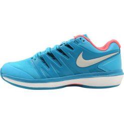 Nike Performance AIR ZOOM PRESTIGE CLY Obuwie do tenisa Outdoor light blue fury/metallic silver/neo turquoise. Niebieskie buty do tenisu damskie Nike Performance, z materiału. Za 419,00 zł.