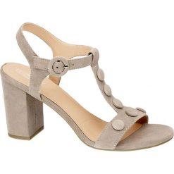 Rzymianki damskie: sandały damskie 5th Avenue szarobrązowe