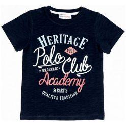 Minoti Chłopięcy T-Shirt Heritage 104 - 110 Niebieski. Niebieskie t-shirty chłopięce MINOTI, z napisami. Za 33,00 zł.