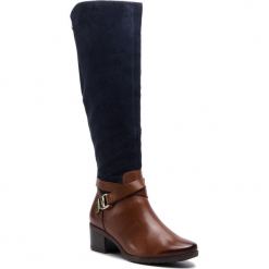 Kozaki CAPRICE - 9-25609-21 Cognac Multi 388. Brązowe buty zimowe damskie Caprice, ze skóry. W wyprzedaży za 359,00 zł.