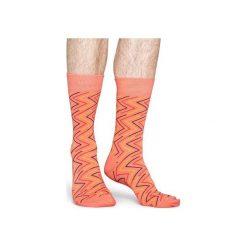 Skarpetki Happy Socks  ZGY01-2000. Czerwone skarpetki męskie Happy Socks, z bawełny. Za 24,43 zł.