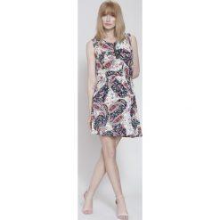 Sukienki hiszpanki: Granatowo-Różowa Sukienka Organic Plants