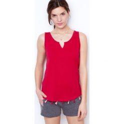 Etam - Top piżamowy. Niebieskie piżamy damskie marki Etam, l, z bawełny. W wyprzedaży za 29,90 zł.