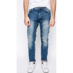 Tom Tailor Denim - Jeansy. Niebieskie jeansy męskie slim TOM TAILOR DENIM, z aplikacjami, z bawełny. W wyprzedaży za 179,90 zł.