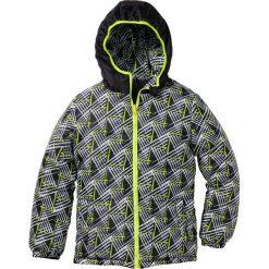 Kurtka dwustronna pikowana bonprix czarno-żółty neonowy. Szare kurtki męskie pikowane marki DOMYOS, z elastanu, z kapturem. Za 59,99 zł.