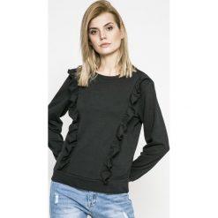 Jacqueline de Yong - Bluza Lotte. Czarne bluzy rozpinane damskie Jacqueline de Yong, l, z bawełny, bez kaptura. W wyprzedaży za 49,90 zł.