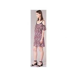 Sukienki krótkie Naf Naf  KALILA. Brązowe sukienki mini marki NAF NAF, z krótkim rękawem. Za 295,20 zł.