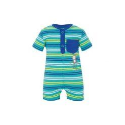 S.OLIVER Boys Baby Rampersy Paski kolor niebieski-zielony. Niebieskie rampersy niemowlęce marki S.Oliver, z bawełny. Za 68,00 zł.