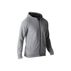 Bluza na zamek z kapturem Gym & Pilates 500 męska. Szare bluzy męskie rozpinane marki DOMYOS, m, z bawełny, z kapturem. W wyprzedaży za 49,99 zł.