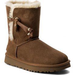 Buty UGG - W Maia 1017496 W/Che. Szare buty zimowe damskie marki Ugg, z materiału, z okrągłym noskiem. W wyprzedaży za 519,00 zł.