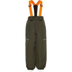 """Spodnie narciarskie """"Snow03"""" w kolorze khaki. Brązowe spodnie chłopięce Name it, w paski. W wyprzedaży za 117,95 zł."""