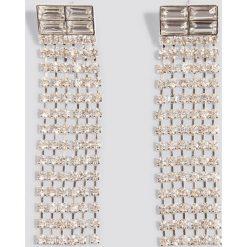 Kolczyki damskie: NA-KD Party Kolczyki chwosty ze strassem – Silver