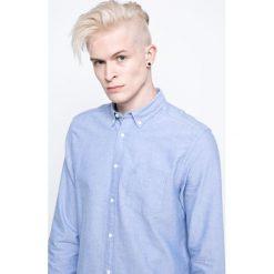 Wrangler - Koszula. Szare koszule męskie na spinki Wrangler, l, z bawełny, button down, z długim rękawem. Za 219,90 zł.