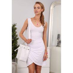 Sukienka Biała 98930. Białe sukienki Fasardi, l. Za 45,00 zł.