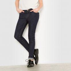 Jeansy slim 10-16 lat. Szare spodnie chłopięce La Redoute Collections, z bawełny. Za 42,00 zł.