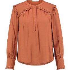 Bluzki asymetryczne: See u Soon RUST FRILL SHOULDER Bluzka brown