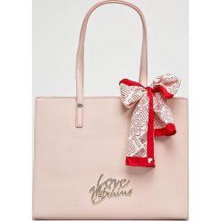 Love Moschino - Torebka. Szare shopper bag damskie Love Moschino, z materiału, do ręki, duże. Za 799,90 zł.