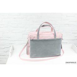 Shopper bag damskie: Skórzana My. Q Lady pudrowy róż szary L-Z-D